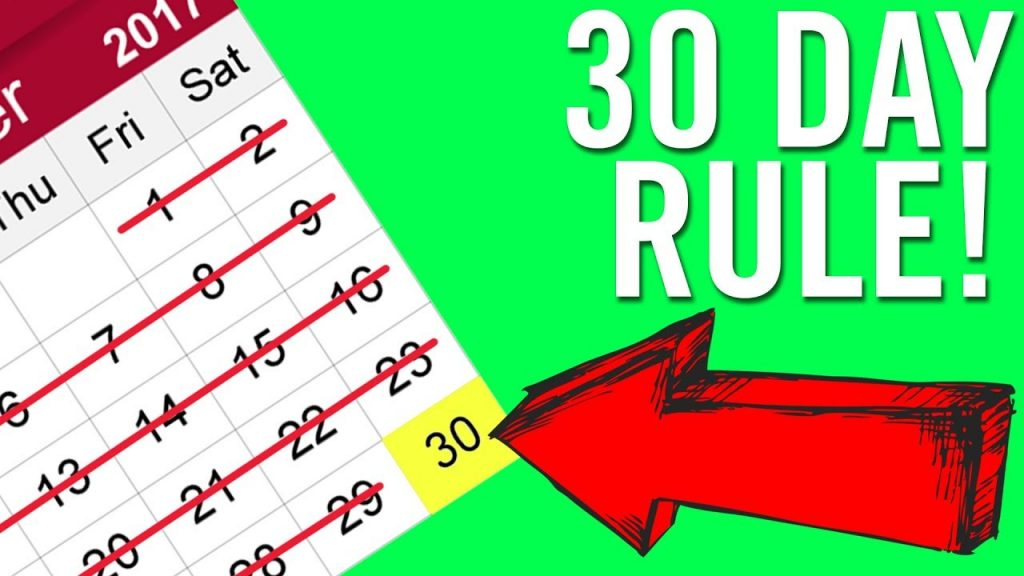 30 day rule