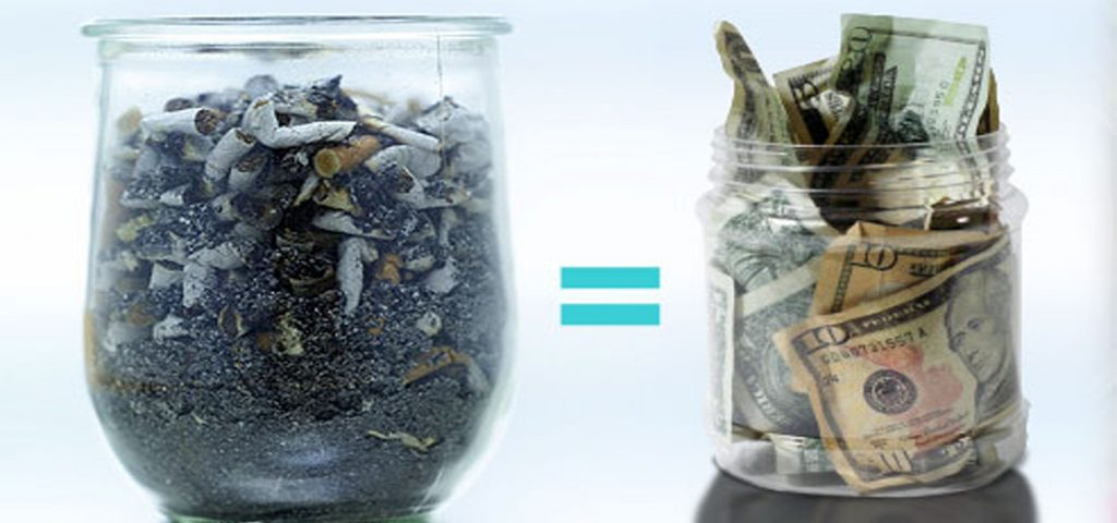quit smoking money in the jar
