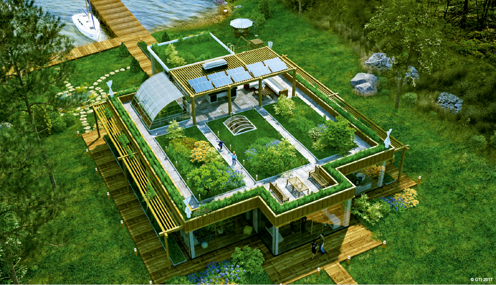 SkyWay Eco Houses