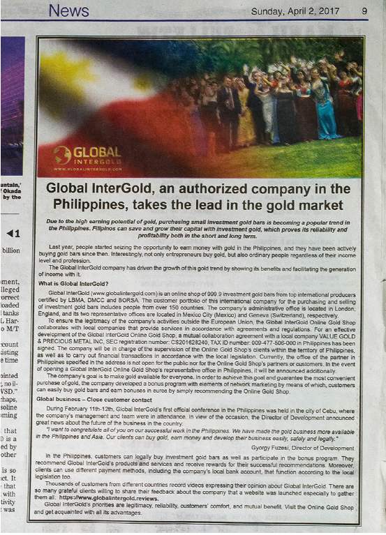 Global InterGold in the News